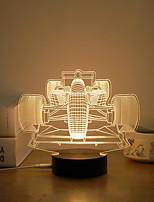 abordables -1 juego Luz nocturna 3D Blanco Cálido USB Creativo / Alivio del estrés y la ansiedad / Seguridad 5 V