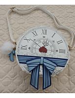 cheap -Women's Bags PU(Polyurethane) Shoulder Bag Pattern / Print / Zipper White