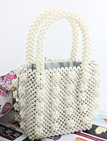 cheap -Women's Bags Acrylic Tote Pearls White