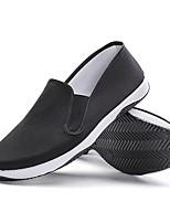 abordables -Homme Chaussures Toile Eté Confort Mocassins et Chaussons+D6148 Noir / blanc / Noir / Jaune
