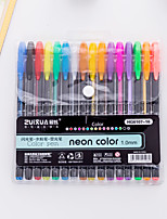 cheap -Gel Pen Pen Pen, Plastics Multi-Color Ink Colors For School Supplies Office Supplies Pack of 16 pcs