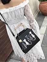 cheap -Women's Bags PU(Polyurethane) Shoulder Bag Pattern / Print / Tassel Black / Blushing Pink / Gray