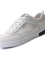 cheap -Men's Tulle / PU(Polyurethane) Summer Comfort Sneakers White / Black