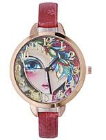 cheap -Xu™ Women's Dress Watch / Wrist Watch Chinese Creative / Casual Watch / Lovely PU Band Casual / Fashion Black / Blue / Red