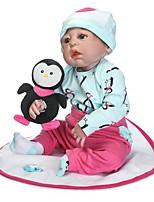 cheap -NPKCOLLECTION Reborn Doll Baby Girl 24 inch Full Body Silicone / Vinyl - Artificial Implantation Blue Eyes Kid's Girls' Gift
