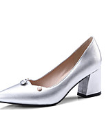 abordables -Femme Chaussures Polyuréthane Printemps été Escarpin Basique Chaussures à Talons Talon Bottier Bout pointu Or / Argent / Vin