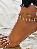 cheap -Anklet - Leaf Double Layered Gold / Silver For Going out / Bikini / Women's