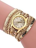 baratos -L.WEST Mulheres Bracele Relógio Chinês Relógio Casual Lega Banda Casual / Fashion Preta / Branco / Prata