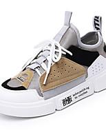 economico -Per donna Scarpe Similpelle Primavera estate Comoda Sneakers Piatto Bianco / Grigio / Blu