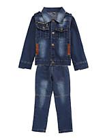 cheap -Kids Boys' Patchwork Long Sleeve Clothing Set