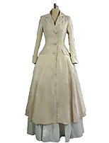cheap -Rococo / Victorian Costume Women's Outfits / Party Costume Beige Vintage Cosplay 50% Cotton / 50% Polyester Long Sleeve Juliet Sleeve