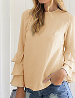 cheap -Women's Street chic Blouse - Solid Colored