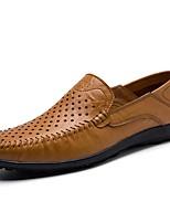 Недорогие -Муж. обувь Кожа Лето Мокасины Мокасины и Свитер Темно-синий / Темно-русый / Хаки