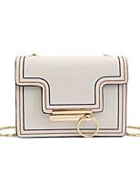 cheap -Women's Bags PU(Polyurethane) Shoulder Bag Buttons / Zipper Blushing Pink / Light Gray / Brown