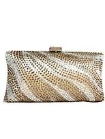cheap -Women's Bags Satin Evening Bag Crystals Gold