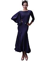 preiswerte -Für den Ballsaal Kleider Damen Training Eis-Seide Kombination 3/4 Ärmel Normal Kleid