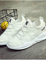 cheap -Women's Shoes PU(Polyurethane) Spring Comfort Sneakers Flat Heel White / Black / Pink