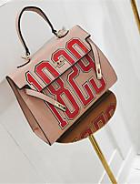 cheap -Women's Bags PU(Polyurethane) Tote Buttons Blushing Pink / Dark Green / Brown