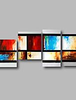 economico -Hang-Dipinto ad olio Dipinta a mano - Astratto / Paesaggi Contemporaneo Tela