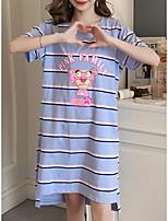 abordables -Col en U Nuisette & Culottes Pyjamas Femme Rayé