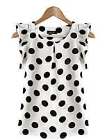 cheap -Women's Basic Blouse - Polka Dot