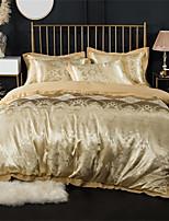 cheap -Duvet Cover Sets Luxury 100% Cotton / Silk / Cotton Blend Jacquard 4 Piece