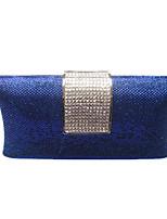 abordables -Femme Sacs PVC / Métal Sac de soirée Détail Cristal Bleu / Or / Noir