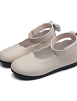cheap -Girls' Shoes Faux Leather Spring / Fall Comfort / Flower Girl Shoes Flats Magic Tape for Kids Black / Beige / Pink / Wedding / Party & Evening