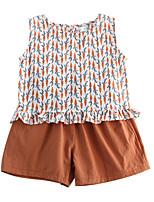 cheap -Toddler Girls' Print Sleeveless Clothing Set