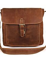 cheap -Men's Bags Cowhide Shoulder Bag Buttons Brown