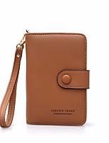 cheap -Women's Bags PU(Polyurethane) Wallet Zipper Black / Purple / Brown