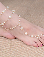 cheap -Barefoot Sandals - Imitation Pearl Ball Classic, Fashion Gold For Daily / Women's
