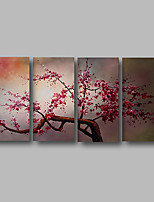 cheap -Oil Painting Hand Painted - Abstract / Floral / Botanical Comtemporary Canvas