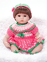 Недорогие -FeelWind Куклы реборн Девочки 18 дюймовый как живой, Естественный тон кожи Детские Девочки Подарок