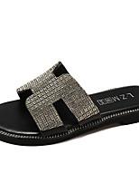 cheap -Women's Shoes PU(Polyurethane) Summer Slingback Slippers & Flip-Flops Flat Heel Gold / Black