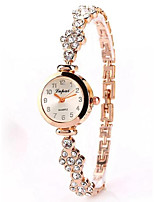 baratos -Mulheres Bracele Relógio Chinês Cronógrafo / Relógio Casual Lega Banda Fashion / Minimalista Prata / Ouro Rose