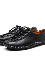 abordables -Homme Chaussures Cuir Eté Confort / Moccasin Mocassins et Chaussons+D6148 Noir / Marron / Bleu