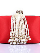abordables -Femme Sacs Polyester Sac de soirée Détail Perle Bleu / Rouge / Rose Claire