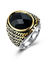 cheap -Men's Synthetic Sapphire Band Ring - Fashion 9 / 10 / 11 Silver For Gift / Daily
