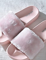 cheap -Women's Slippers Slippers / House Slippers Ordinary Cashmere solid color