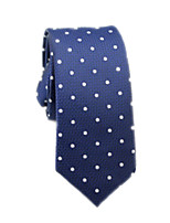 cheap -Men's Work / Basic Cotton / Polyester Necktie - Polka Dot / Color Block / All Seasons