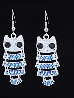 cheap -Women's 3D Drop Earrings - Owl Dangling Style, Sweet, Colorful Royal Blue For Gift / Going out