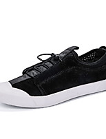 cheap -Men's Light Soles Pigskin Spring &  Fall Sneakers Black / Khaki