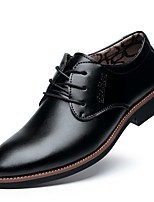 cheap -Men's Patent Leather Spring Comfort Oxfords Black / Brown / Party & Evening