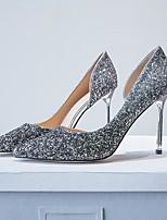 abordables -Femme Chaussures Matière synthétique Eté Confort Chaussures à Talons Talon Aiguille Or / Noir / Argent