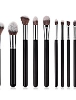 cheap -10-Pack Makeup Brushes Professional Makeup Brush Set Nylon fiber Full Coverage / Comfy Wooden / Bamboo