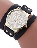 abordables -Xu™ Mujer Reloj Pulsera / Reloj de Pulsera Chino Creativo / Reloj Casual / Adorable PU Banda Heart Shape / Moda Negro / Blanco / Rojo / La imitación de diamante / Esfera Grande / Un año