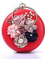 cheap -Women's Bags Terylene Evening Bag Embroidery / Pearls Red / Blushing Pink / Wine