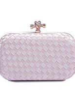 cheap -Women's Bags Polyester Evening Bag Buttons Almond / Silver / Dark Red
