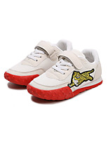 cheap -Girls' Shoes Suede / Tulle Spring & Summer Comfort Sneakers Walking Shoes Animal Print / Magic Tape for Kids White / Black / Red